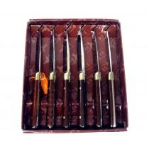 Muela - Estuche 6 Cuchillos madera serpiente