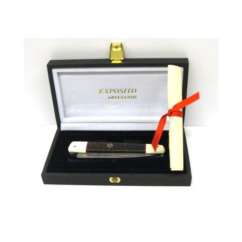 Exposito - Navaja pluma marfil/damascus